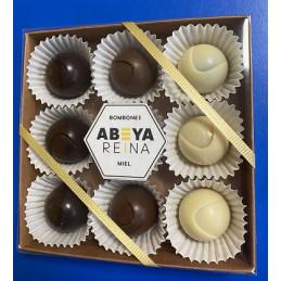 Bombones de chocolate, miel...